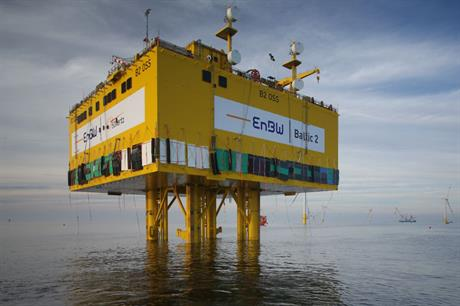 The substation for Baltic 2 has been installed