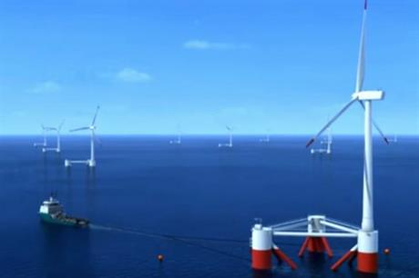 The turbines would be fully constructed before being towed into position