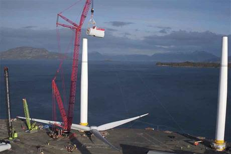 Hywind Scotland turbines are being prepared in Norway before being transported to the site for the 30MW floating project