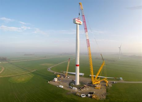 Two Siemens 6MW offshore turbines have been installed at an onshore project