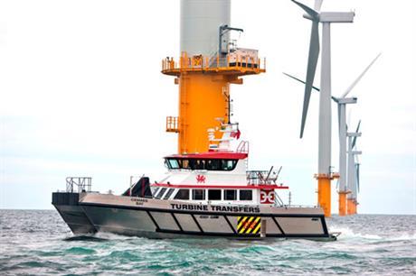Siemens turbines at Rhyl Flats
