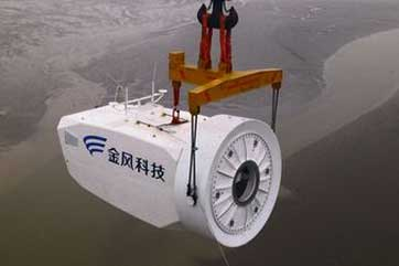 A Goldwind turbine being installed at Rudong, east China