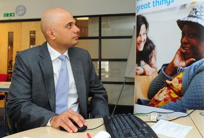 Sajid Javid switches on Charities Online