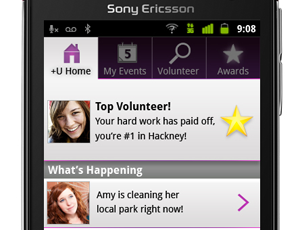 YouthNet and Sony's mobile phone app