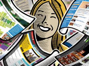 Digital media illustration