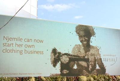 The MicroLoan Foundation billboard