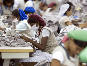 Textile workers in India