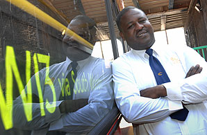 Eric, one of the drivers on HCT Group's latest London red bus route. Photograph: Christine Boyd
