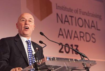 Mark Astarita speaking at the IoF National Awards 2013