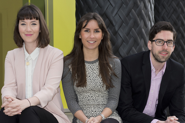 New office: The Citypress London team will be led by Tom Kirkham (r), supported by Bethan Davies (l) and Victoria Holden