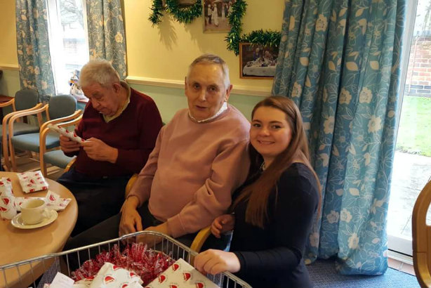 Big helper: Courtney Hughes (r) has given time and money to her festive campaign