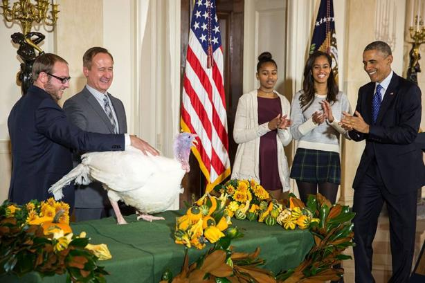 "The first daughters at last week's annual ""turkey pardoning"" ceremony"
