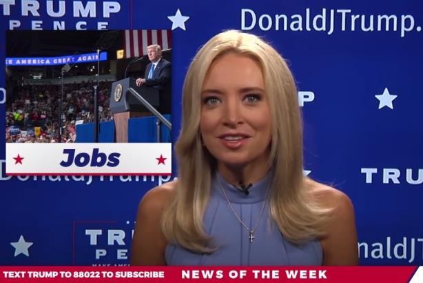 Trump TV, starring Kayleigh McEnany (Image via Facebook).