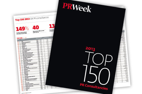 PRWeek Top 150 2014: Entry deadline extended by three working days