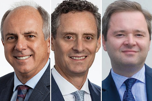 BM moves: Carvalho (left) succeeds Prudencio (centre), who is taking over Galbraith's (right) old role