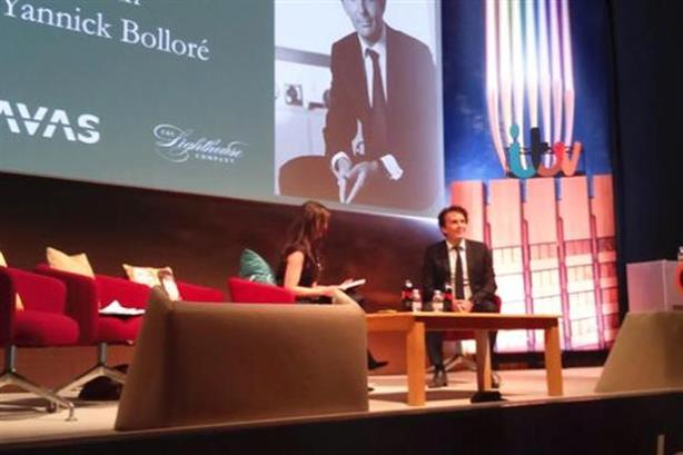 Yannick Bollore on stage at Advertising Week Europe.
