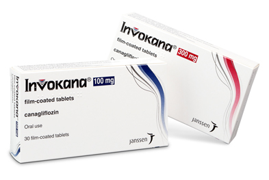 Invokana (canagliflozin) is given once daily at a starting dose of 100mg, increasing if necessary to 300mg once daily in patients with CrCl ≥60ml/min