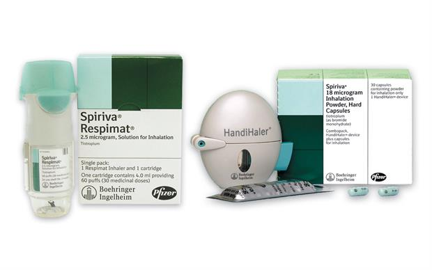 Tiotropium (Spiriva) is licensed as a maintenance bronchodilator treatment to relieve symptoms of COPD.