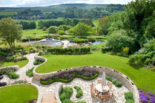 Ian Kitson's award winning design for Follers Manor, East Sussex