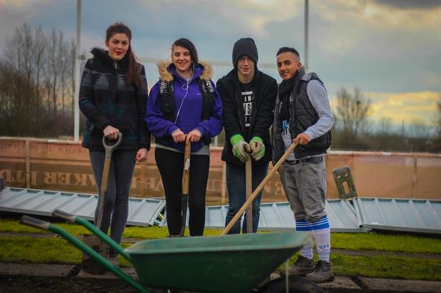 Young volunteers on a Groundwork project. Image: Groundwork UK